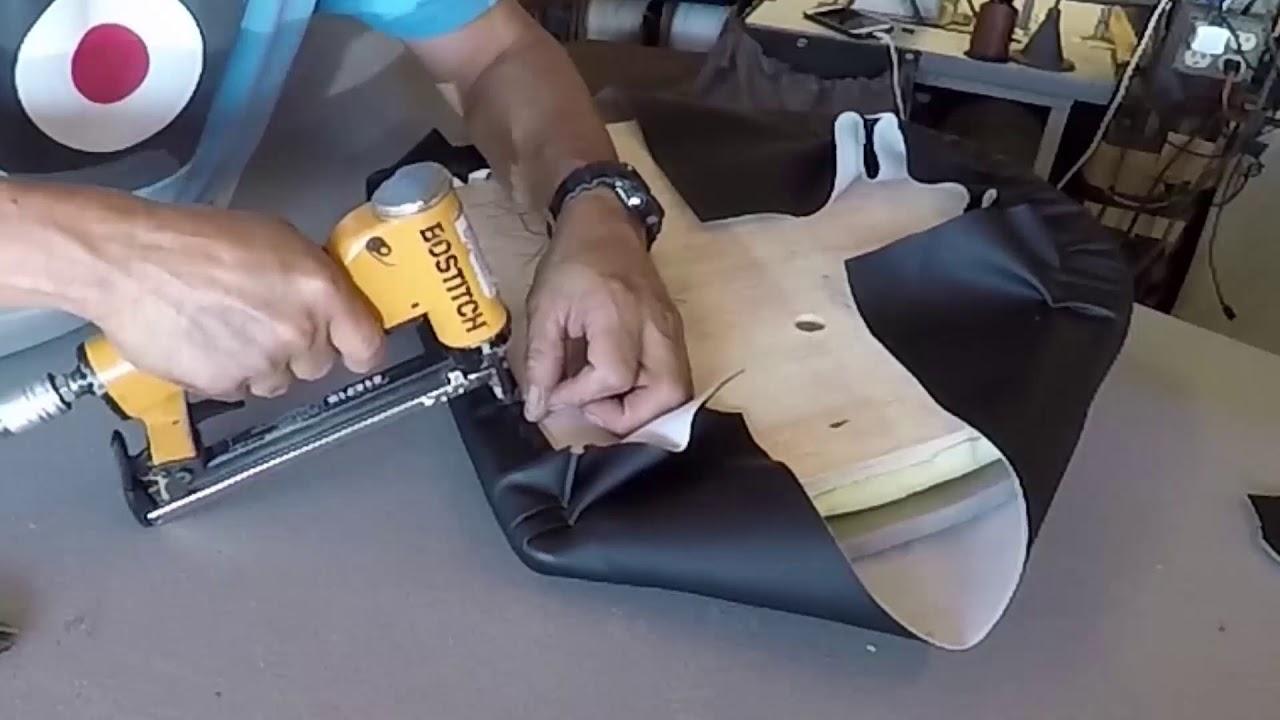 Tapiceria Para Aficionados, Como tapizar sillas de comedor. - YouTube