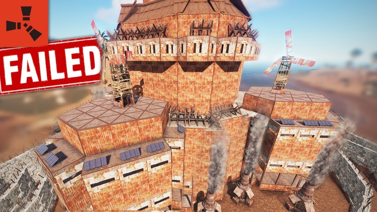 Raiding the BIGGEST CLAN BASE on the SERVER and failed.. ???? - Rust