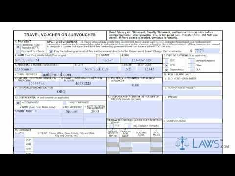 Learn How To Fill The DD 1351 2 Form Military Travel Voucher