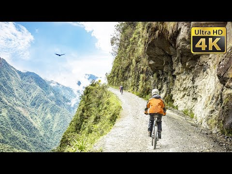 Biking in the Bolivia's Death Road Yungas Road