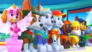 PAW Patrol Mighty Pups Save Adventure Bay - Rocky, Rubble Pups Super Heroic Mission Part 1 - Nick Jr