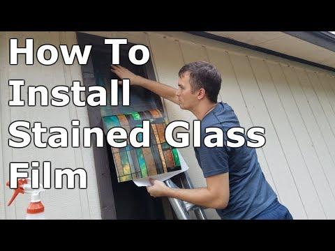 Artscape Stained Glass Window Film Installation