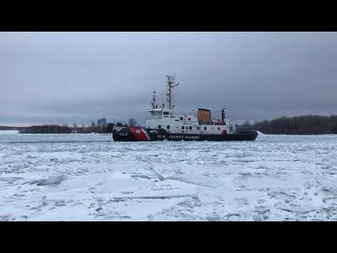 USCGC Biscayne Bay in the Ice on the St. Marys River