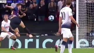 Rakitic Volley goal vs Tottenham Hotspur