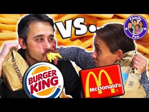 MC DONALDS VS BURGER KING ULTIMATIVE FAST FOOD TEST | Fake vs Original | FAMILY FUN