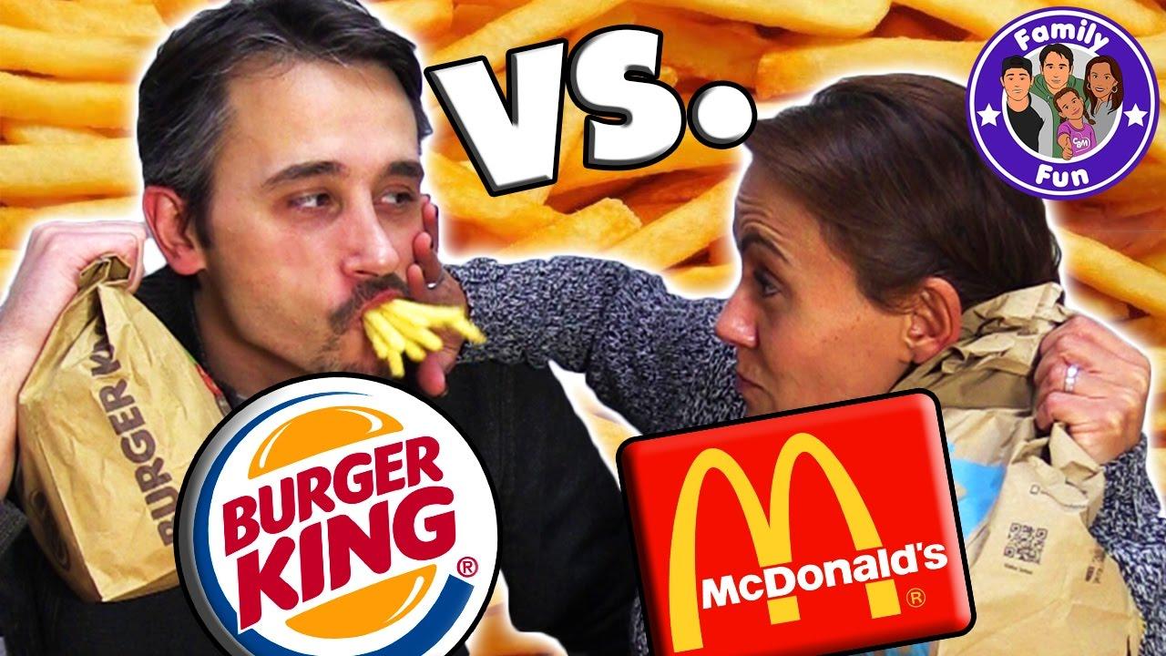 Funny Burger King: MC DONALDS VS BURGER KING ULTIMATIVE FAST FOOD TEST