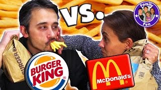 MC DONALDS VS BURGER KING ULTIMATIVE FAST FOOD TEST | Fake vs Original | FAMILY FUN
