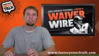 2009 fantasy football -  week 6 waiver wire pick ups