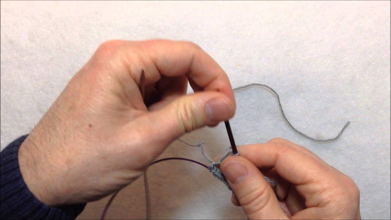 Comment tricoter avec une seule aiguille - Comment tricoter avec des aiguilles circulaires ...