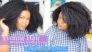 2 Month UPDATE : Aliexpress|| Yvonne Hair Brazilian Kinky Curly