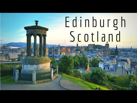 Edinburgh Scotland 4k Drone footage of the city