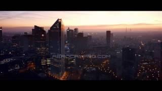 Drone camera - Paris - La Defense, early morning - 2K Quick Sample