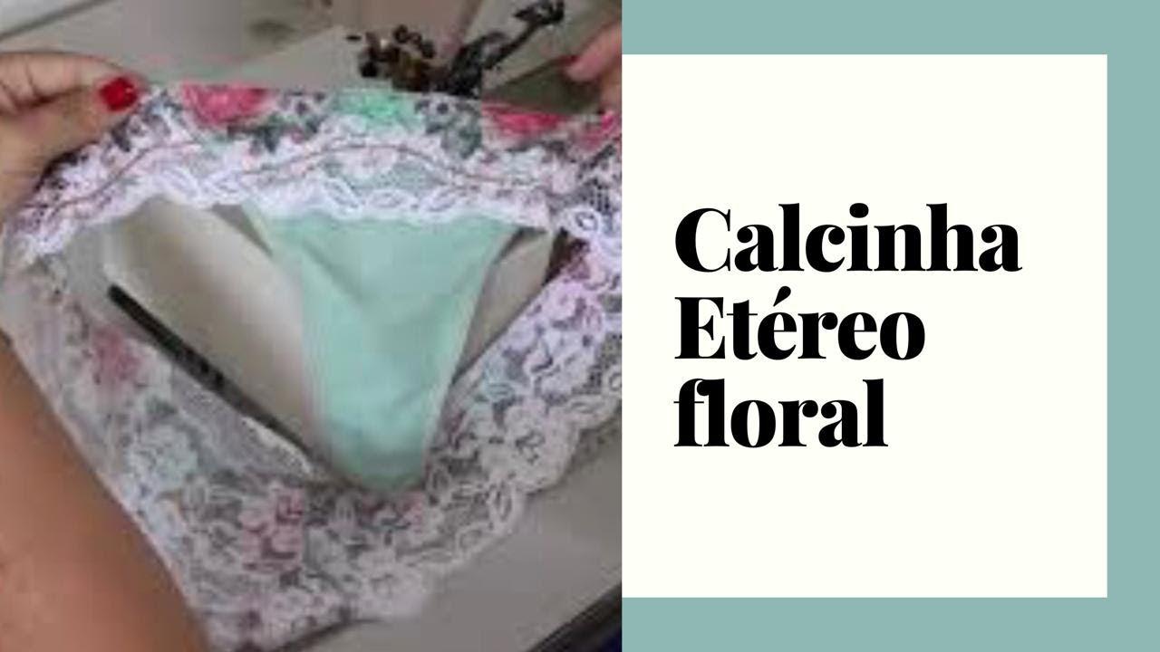 763b9b588 passo a passo   calcinha Etéreo floral - YouTube