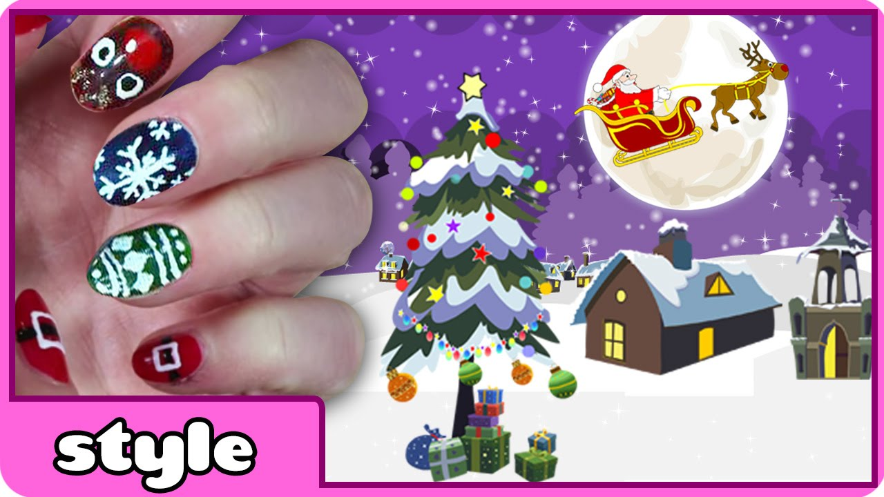 DIY Christmas Nail Art Collection 2014   Cute Holiday Nail Art ...