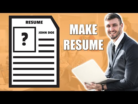 How to Make Resume Template for Jobs | Quick & Free