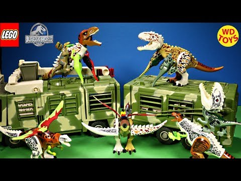 New Jurassic Park Mobile Command Center Lego Jurassic World 11 Hybrid Surprise Eggs Mutant Freaks