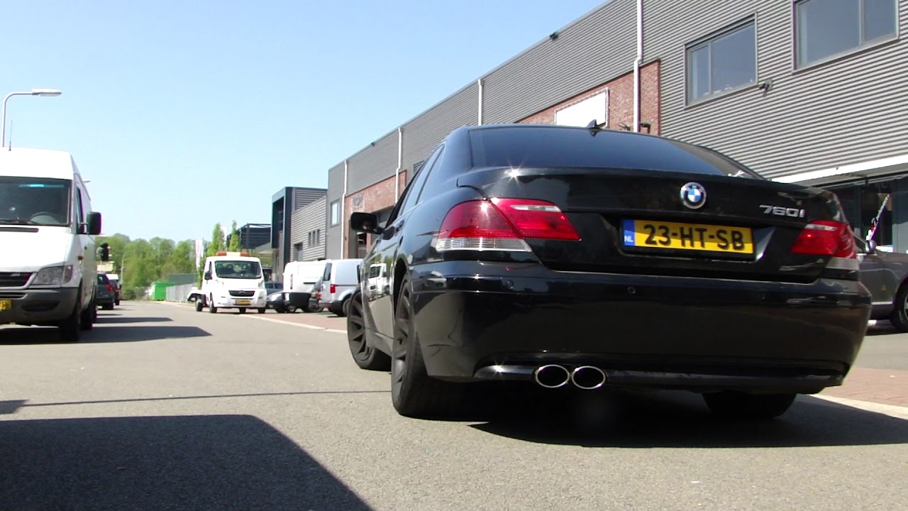 BMW 750I EXHAUST SOUND SYSTEM SPORTUITLAAT UITLAAT by www maxiperformance nl