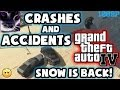 Grand Theft Auto 4 (GTA IV / 4) - Crashes & Accidents 5 - Snow is Back!