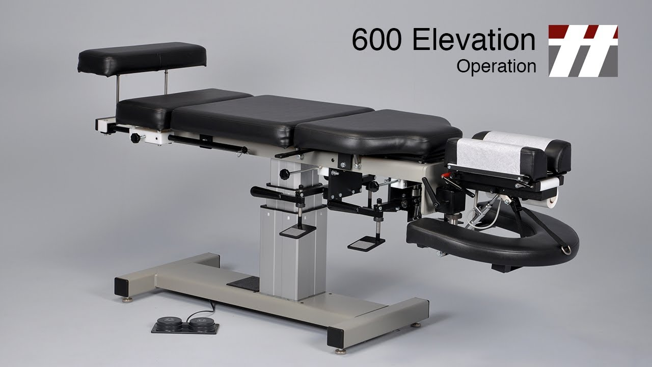 600 Elevation Operation Thuli Chiropractic Table Youtube