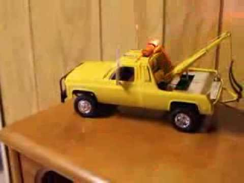 Model tow truck with led light bar youtube aloadofball Images