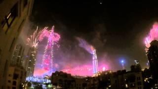 Dubai Burj Khalifa New Year 2015 Fireworks | Full show in GoPro 4K