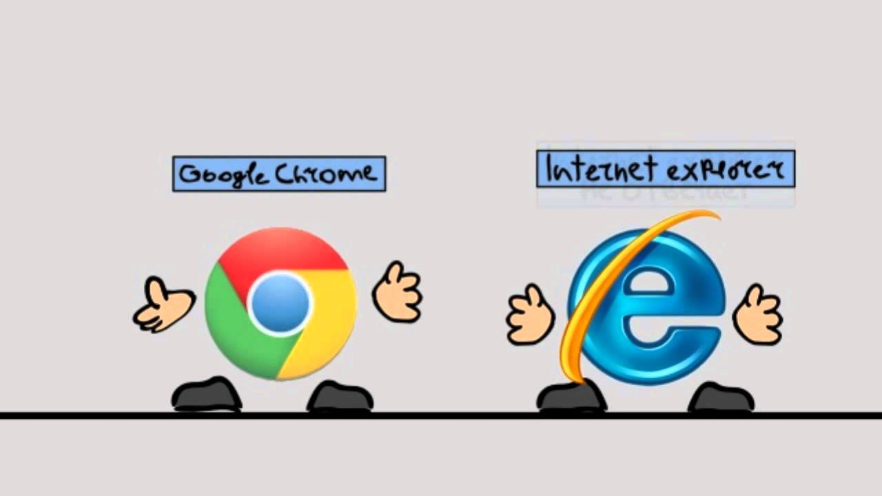Google Chrome VS Internet Explorer - YouTube
