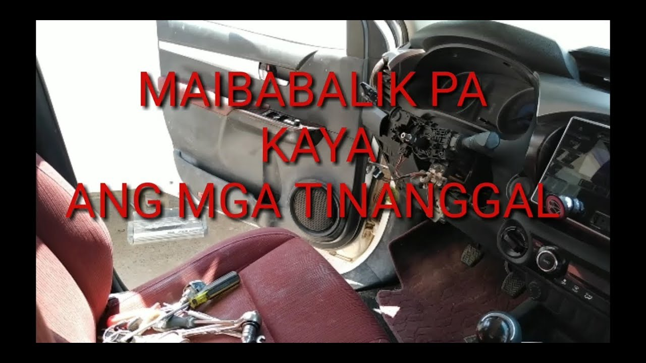How to Removed Ignition Switch of Toyota Hilux Pick Up 2016 (TAGALOG) Part  #2
