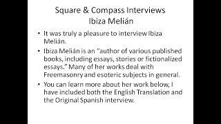 S&C Special Episode: Square & Compass Interviews Author Ibiza Melián