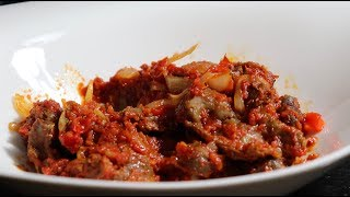 Peppered gizzard| Quick and Easy Recipe| Sweet and Spicy Chicken gizzards