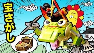 【ブロック!】新おもちゃ登場!BIKKU ビークルワールドで宝探し!オリ...