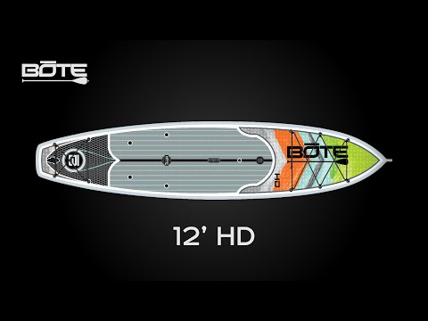 BOTE 2016 HD 12' All-Around Fishing and Expedition Paddle Board