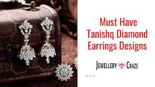Latest Tanishq  Diamond Earrings Designs