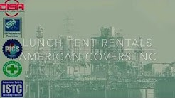 Industrial Lunch Tents by American Covers Inc.