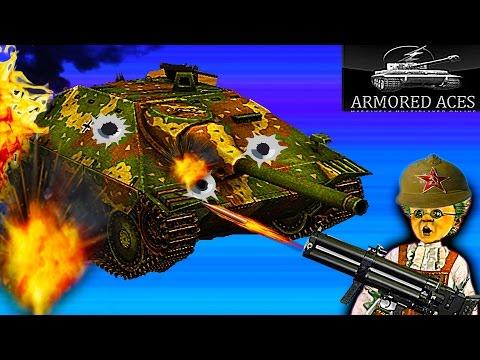 Мульт танки Armored Aces 3d онлайн  игра Видео для детей много видов танков прокачки как Tanktastic