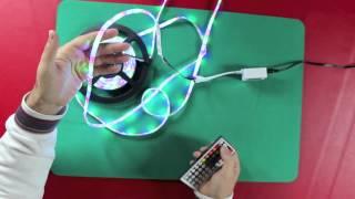 5m led striscia luce smd 5050 rgb non impermeabile telecomando 44 tasti