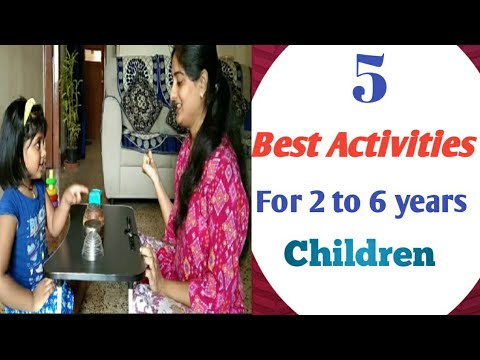 5 Brain Boosting And Fun Activities For 2 To 6 Years Kids// Indoor Games For Kids