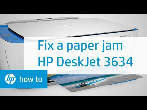 Fixing a Paper Jam on the HP DeskJet 3634 Printer | HP DeskJet | HP