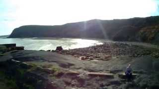 Port Mulgrave in North Yorkshire from a Hubsan Quadcopter (Stabilised)