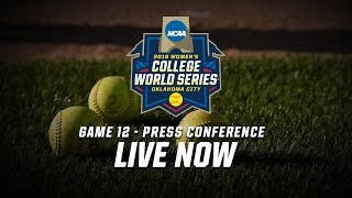 2016 Women's College World Series - Game 12 Postgame Press Conference