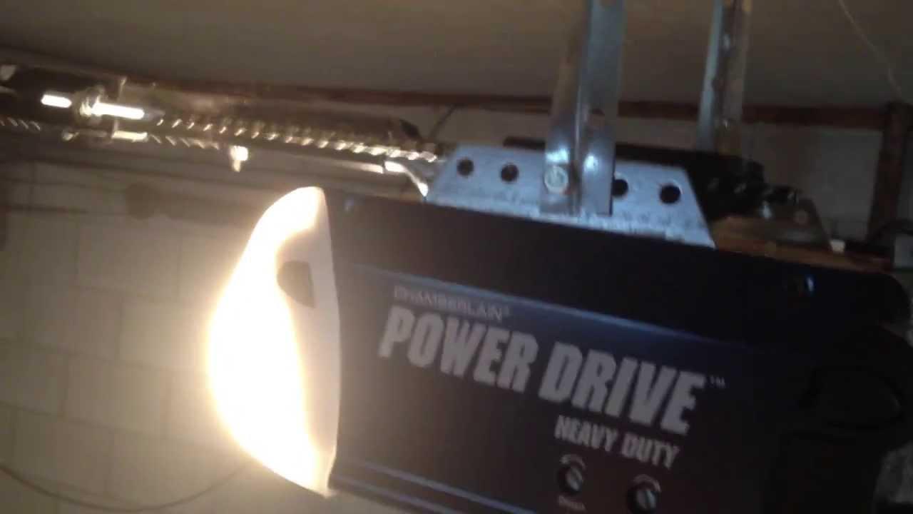 How To Reset Garage Door Opener >> Chamberlain Power Drive Garage Door Opener Issue - Internal Sensor? - YouTube