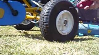 Schlauchlose Reifen von Gokarts/Schubkarren aufpumpen