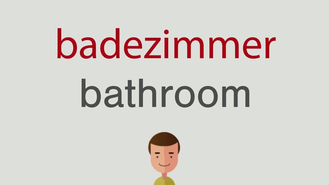 Wie heißt badezimmer auf englisch - YouTube