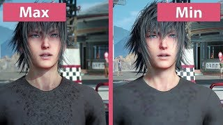 [4K] Final Fantasy XV – PC Min vs. Max Graphics Comparison & Frame Rate Test