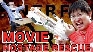 Nerf War Hostage rescue ナーフ戦争 人質救出!