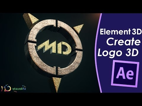 Create a 3D Logo - Element 3D - After Effects Tutorial