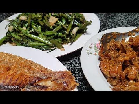 Tep Kho Thịt Va Rau Muống Xao Tỏi Miền Tay Tv Youtube