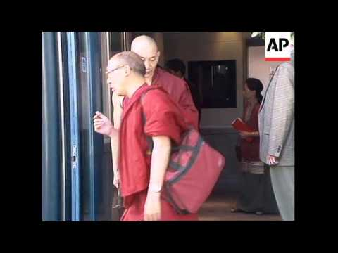 UK: LONDON: THE DALAI-LAMA ARRIVES AT HEATHROW AIRPORT