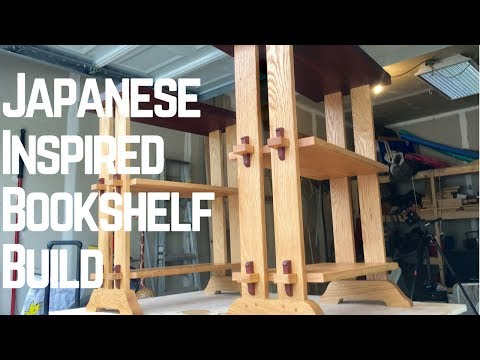 Japanese Inspired Bookshelf (3 AWESOME Types of Joinery!!!) How To | Woodworking