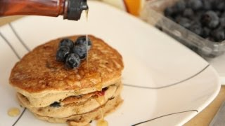 Vegan Pancakes Recipe - Whole Wheat Pancakes - Blueberry Pancakes