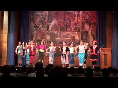 Dance Lao Huam Pao (Lao Ethnic Groups Unity) @ BBG bldg in Washington DC